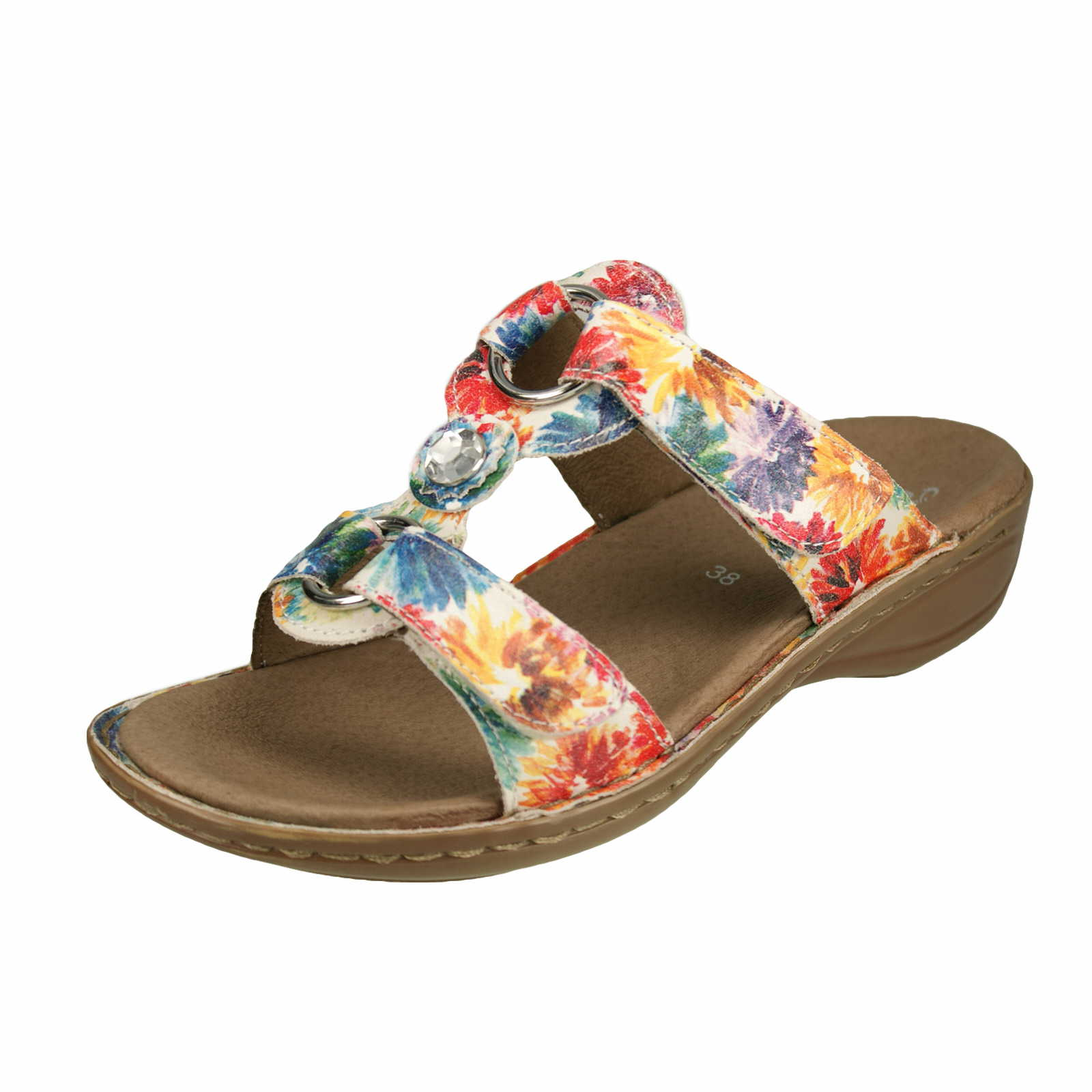 Damen Pantolette Hawaii multi - Hawaii 12-27273-16