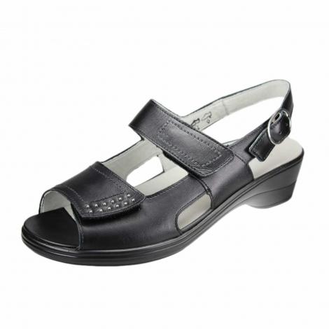 waldl ufer sandalette f r damen in schwarz schuhparadies. Black Bedroom Furniture Sets. Home Design Ideas