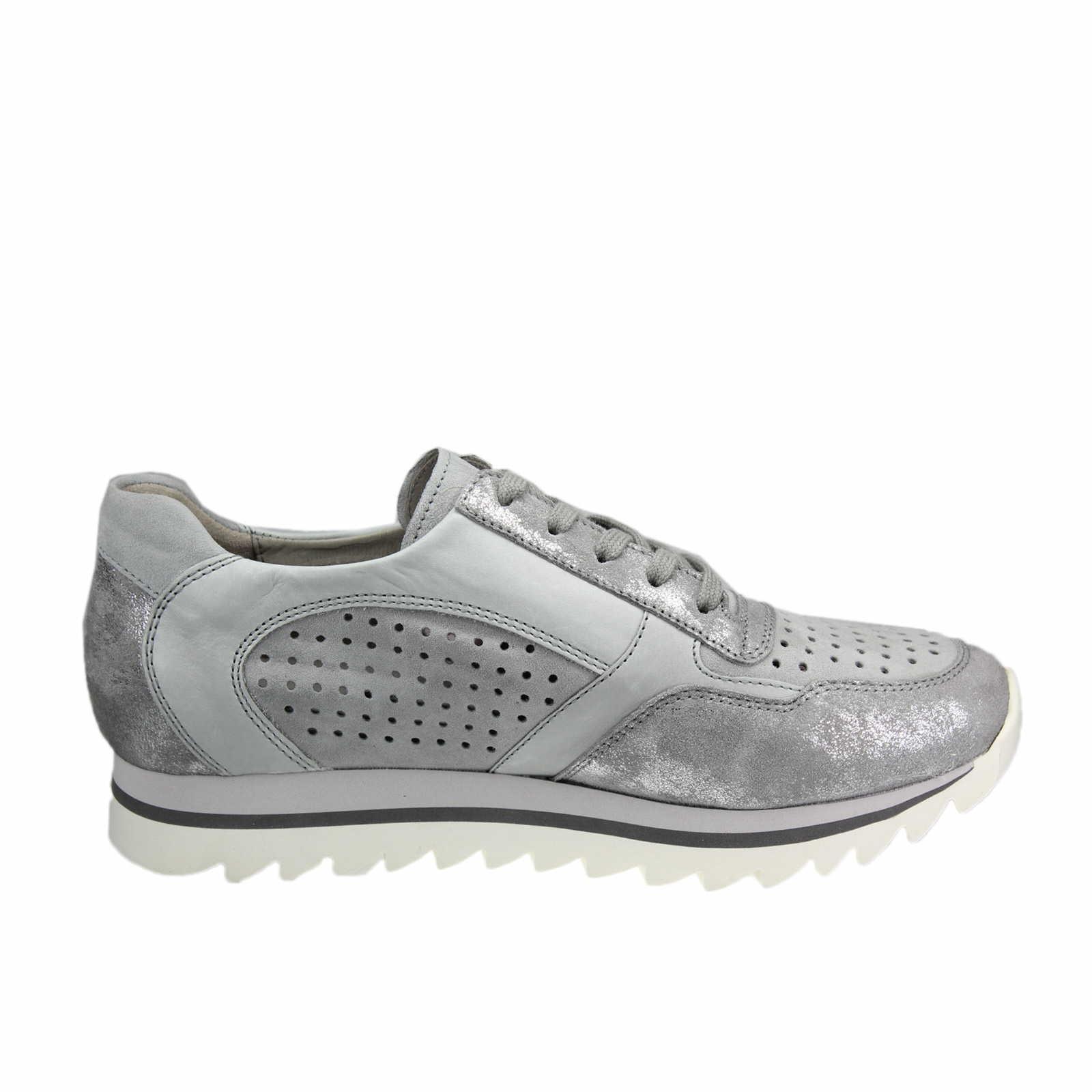 gabor damen sneaker grau silber f r damen in grau. Black Bedroom Furniture Sets. Home Design Ideas
